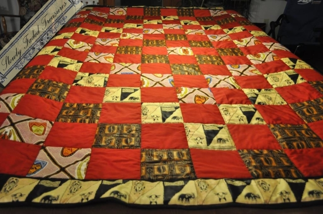 African fabric quilted